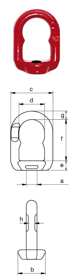 Excel M10 Eye Nut dimensions