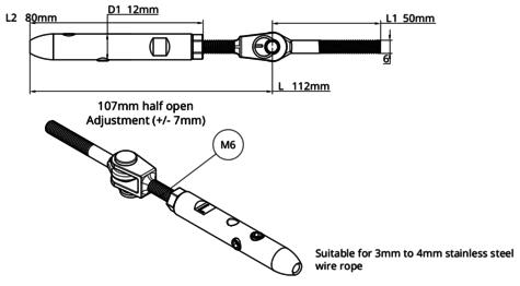 TECNI® 4mm Cable Balustrade Angled Runs into Metal