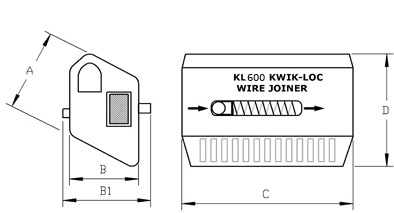 Kwik-Loc KL600 Cable Grip for 6mm Cable