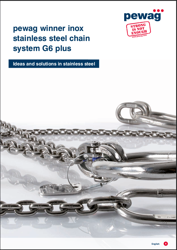 Winner inox G6 stainless steel chain systems.